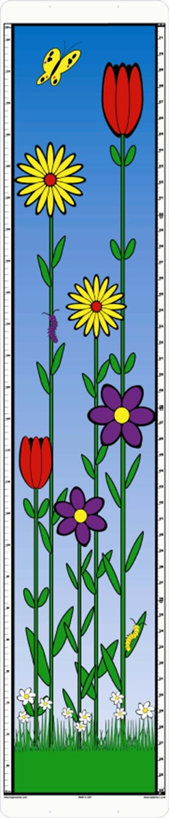 child growth chart with flowers