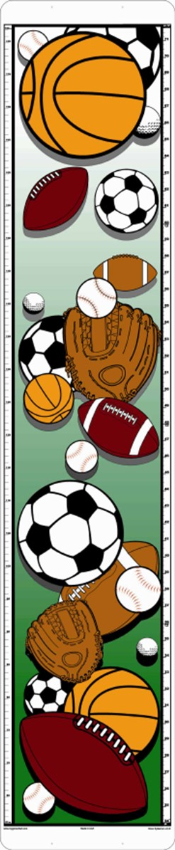 assorted sports items growth chart